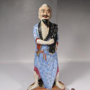 民国精品粉彩渔翁瓷塑