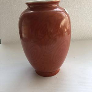 晚清木纹釉灯笼瓶