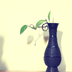 清代饕餮龙纹观音三铉铜瓶