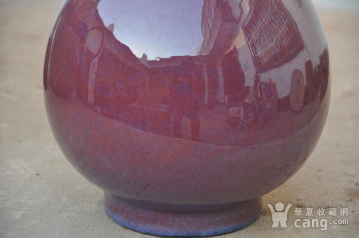 清乾隆红釉长颈瓶图2