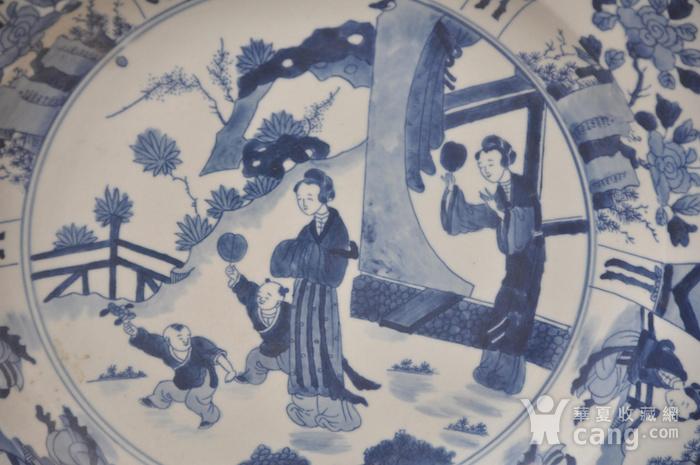 清青花仕女图大盘图4