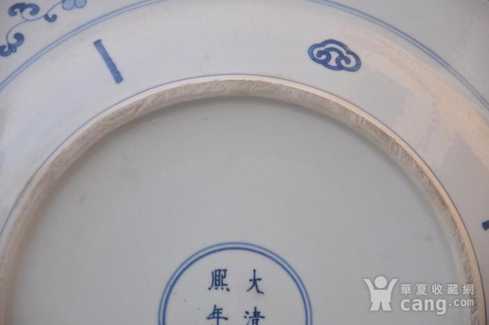 清青花仕女图大盘图6