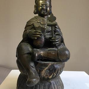 清晚期藏传佛教铜雕黄财神一尊