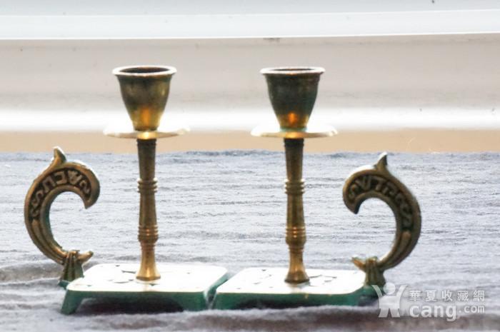 520 以色列传统纯铜錾花烛台图3