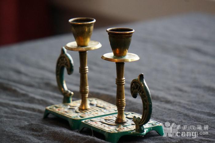 520 以色列传统纯铜錾花烛台图1