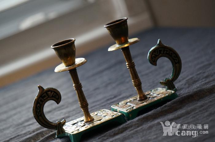 520 以色列传统纯铜錾花烛台图5