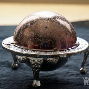 520 英国镀银精美贵族糖盒