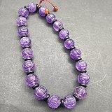 假一罚十,天然团寿纹紫水晶。