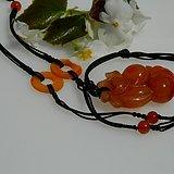 出口创汇时期的南红,柿子红玛瑙项链