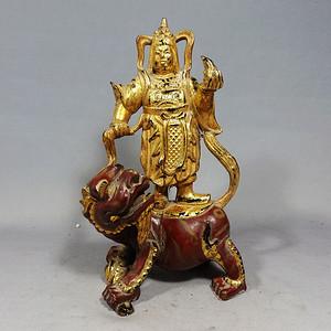 清代木雕鎏金罗汉造像