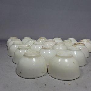 民国白釉杯20个