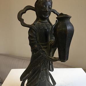 明代铜雕麻姑拜寿