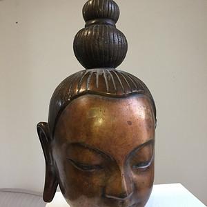 清中期铜鎏金铸造无量寿佛佛头