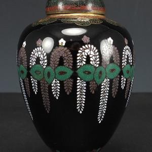 清代 精品   铜胎掐丝珐琅 盖罐瓶