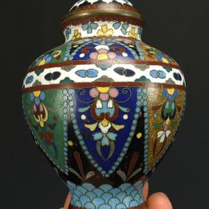 清代铜胎掐丝珐琅 茶叶盖罐