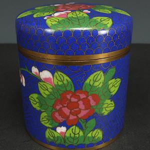 清代精品 铜胎掐丝珐琅  茶叶