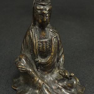 清代 鎏金菩萨尊铜坐象