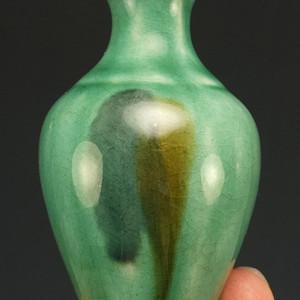 清代 窑变绿釉 观音尊