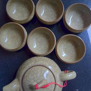 精品奇石茶壶一套 含6个杯