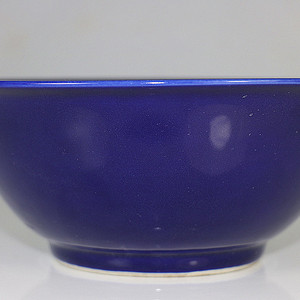 老万历款霁蓝大碗