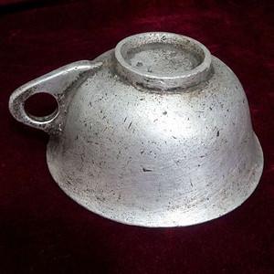 520 最早的铸铝     清代民国时期铸铝耳杯   可进博物馆