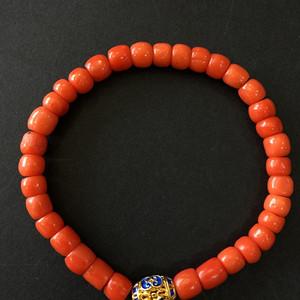 8066欧洲回流桶珠红珊瑚手串