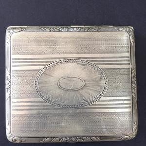 8027欧洲回流合成银錾刻工艺烟盒