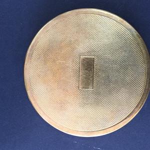 8030欧洲回流贵族铜粉底盒