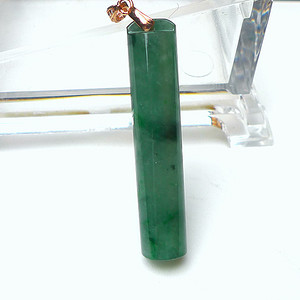 金牌 冰润满绿拎管吊坠