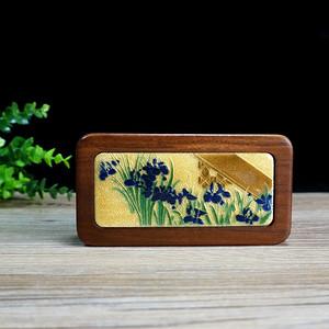 回流木镶珐琅彩铜印章盒