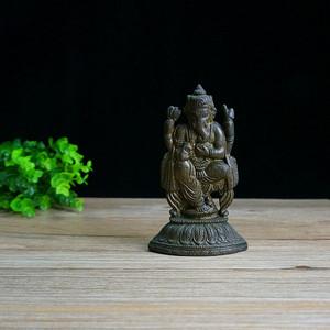 回流象鼻老铜神像