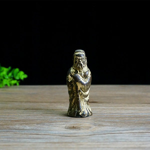 清民鎏金人物铜像