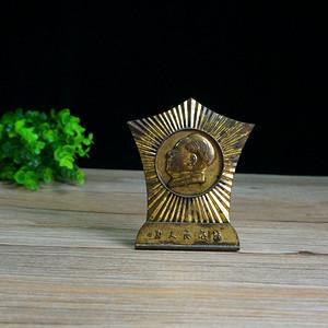 文革鎏金主席铜像