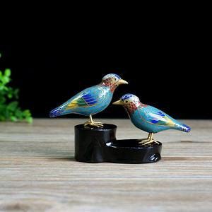 创汇期仿生景泰蓝对鸟