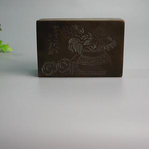 回流民国 白石 款刻铜墨盒