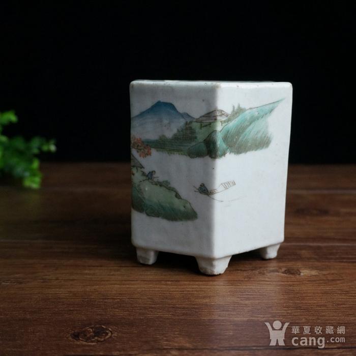 清浅绛彩六边瓷器图4