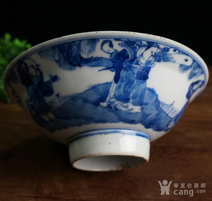 清青花三星大瓷碗图1