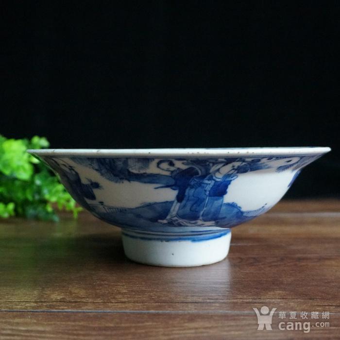清青花三星大瓷碗图2
