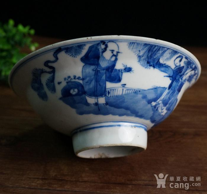清青花三星大瓷碗图4