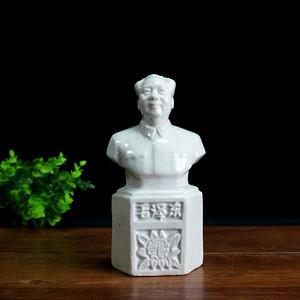 文革瓷器半身主席白瓷像