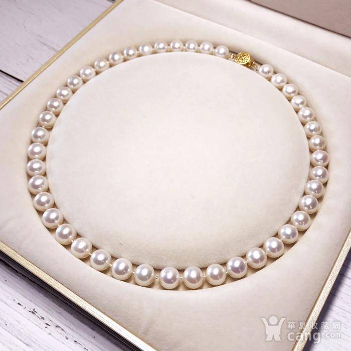 漂亮强光天然淡水珍珠近正圆珍珠项链!图6