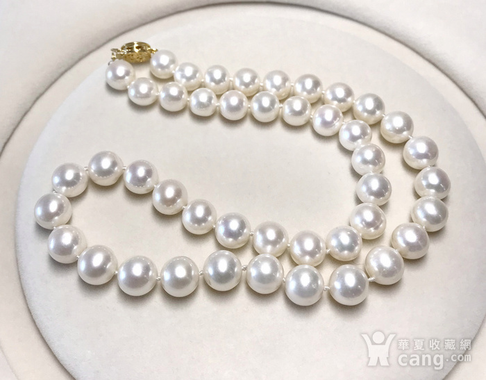 漂亮强光天然淡水珍珠近正圆珍珠项链!图3
