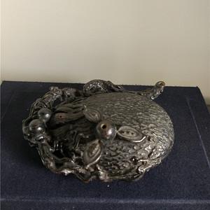 520 日本名家中川净益铜砚滴
