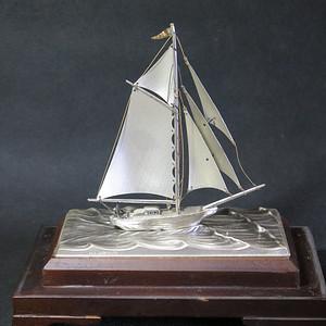 民国银质帆船模型 本网已经鉴定