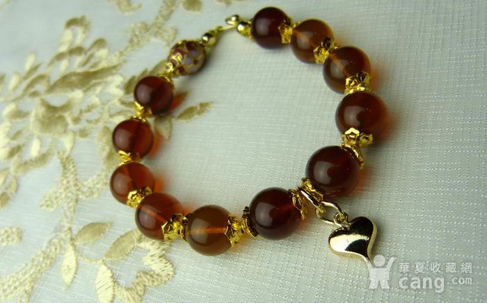 520 天然缅甸彩虹琥珀日本贵和金手链图5
