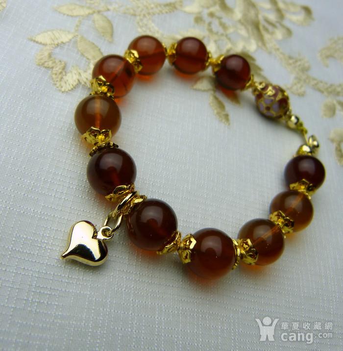 520 天然缅甸彩虹琥珀日本贵和金手链图8