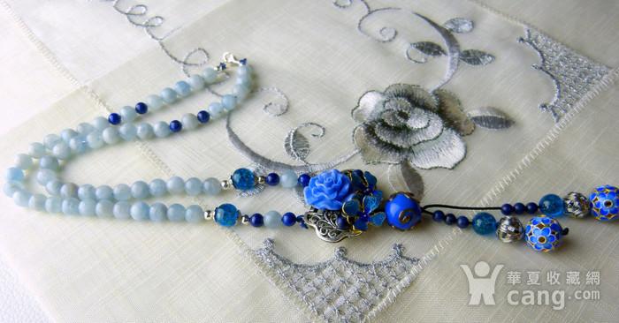 520 天然巴西海蓝宝石项链图5