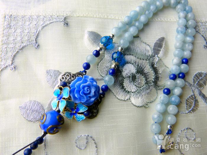 520 天然巴西海蓝宝石项链图6
