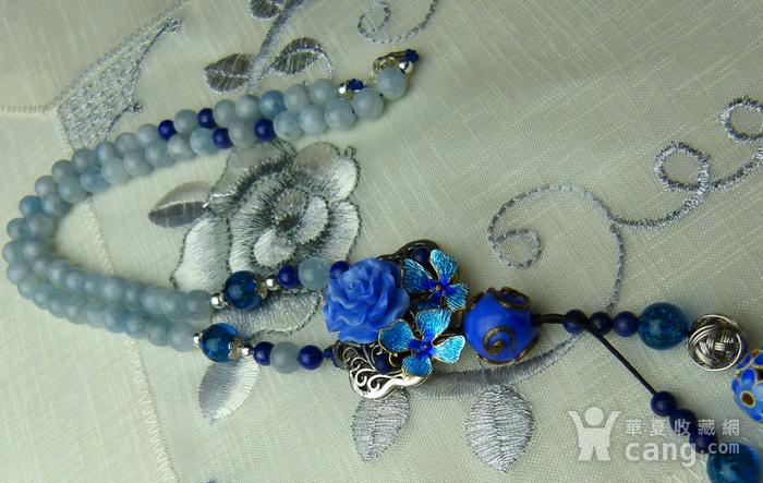 520 天然巴西海蓝宝石项链图4