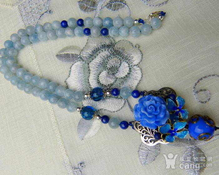 520 天然巴西海蓝宝石项链图8